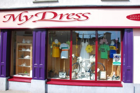 My Dress Shop Window for 2010 FBD Insurance Rás Stage Finish in Carrick-on-Suir