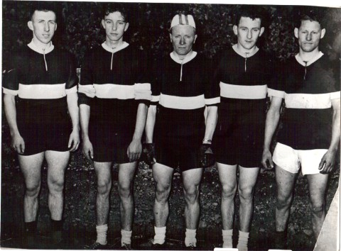 Carrick Wheelers 1955 - J.Flynn; M.Dunne; S. Healy; T.Power and P. Tobin
