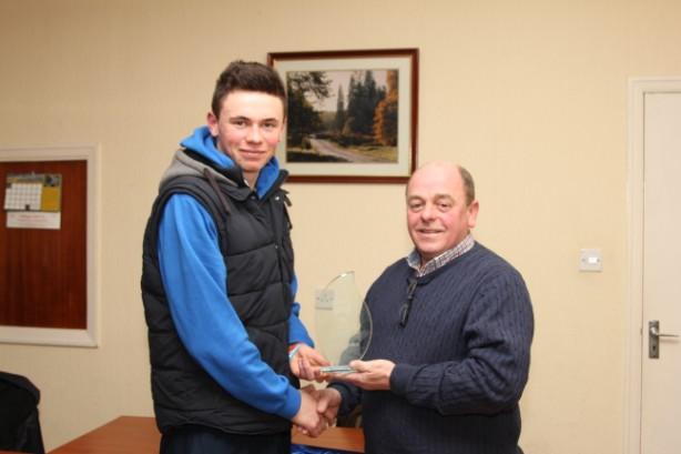 Iverk Produce Carrick Wheelers Secretary Paul Lonergan presents the Youth Sports Star of the Year Award to Michael O'Loughlin